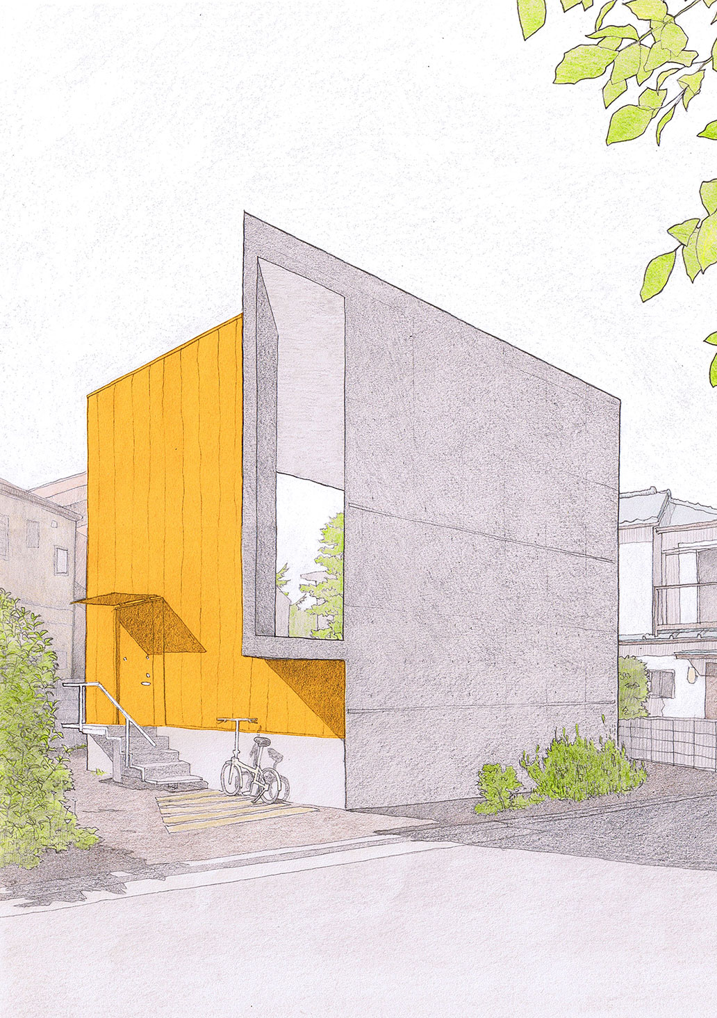 HOUSE WITH ORANGE WALL